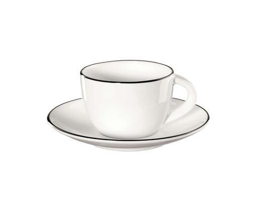 Set de tazas de café á table ligne noir, 8pzas.