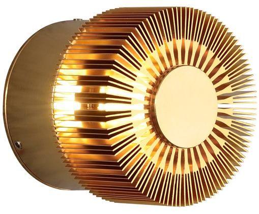 Kleine LED Außenwandleuchte Monza, Bronzefarben, 9 x 9 cm