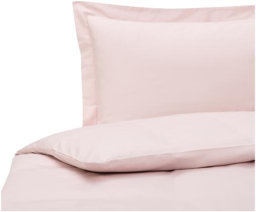 Parure copripiumino in raso di cotone Premium, Tessuto: raso, leggermente lucido, Rosa, 155 x 200 cm
