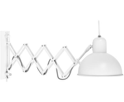Applique Aberdeen, Lampada: metallo verniciato, Bianco, Larg. 25 x Alt. 27 cm