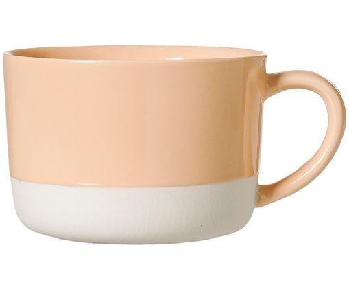 Tasse Zoe, Keramik, Weiß, Orange, Ø 10 x H 7 cm