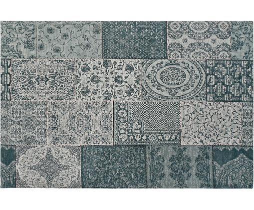 Alfombra Compi, Algodón, poliéster, Griz, Azul, An 120 x L 180 cm (Tamaño S)