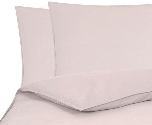 Gewaschene Leinen-Bettwäsche Carla, 52% Leinen, 48% Baumwolle Mit Stonewash-Effekt, Altrosa, 200 x 200 cm