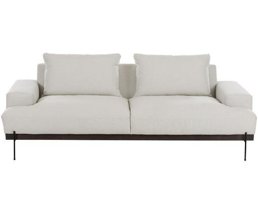 Sofa Brooks (3-Sitzer), Bezug: Polyester 35.000 Scheuert, Gestell: Kiefernholz, massiv, Rahmen: Kiefernholz, lackiert, Beige, B 230 x T 98 cm
