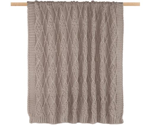 Plaid en tricot Darcy, Taupe