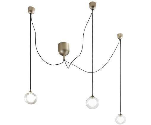LED Pendelleuchte Blog, Goldfarben, Transparent, Schwarz, Individuell konfigurierbar
