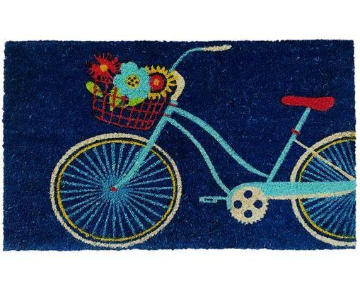 Paillasson Bicycle, Bleu foncé, multicolore