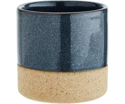Portavasi Tone, Terracotta, Blu scuro, beige, Ø 8 x Alt. 8 cm