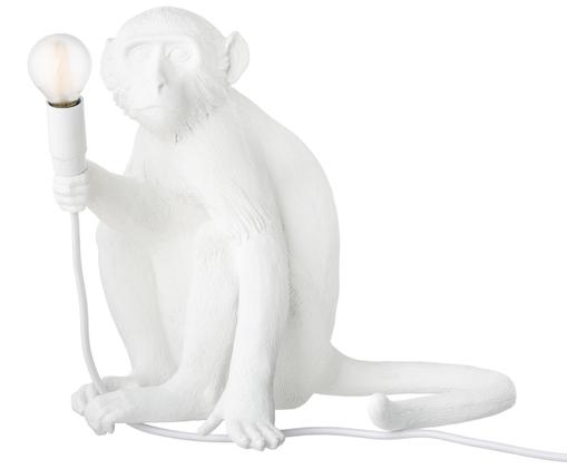 LED tafellamp Monkey, Kunsthars, Wit, 34 x 32 cm