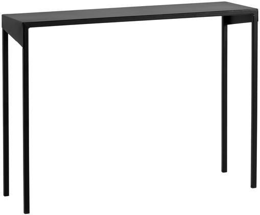 Konsole Obroos in Schwarz, Metall, lackiert, Schwarz, B 100 x T 30 cm