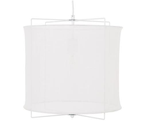 Lampada a sospensione in lino Clouds, Paralume: lino, Bianco, Ø 40 x Alt. 40 cm