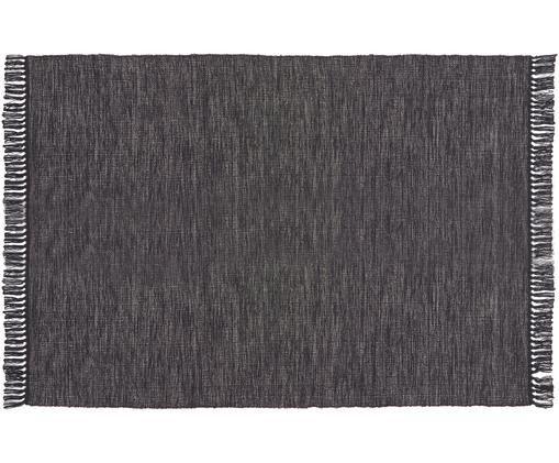 Tappeto in cotone Dag, Cotone, Antracite, Larg. 140 x Lung. 200 cm (taglia S)