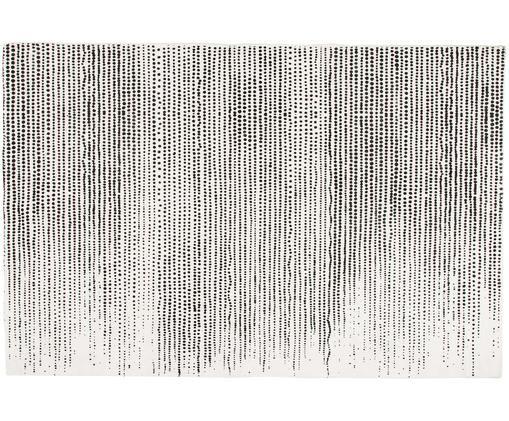 Viscose vloerkleed Lila, Bovenzijde: 100% viscose, Onderzijde: 100% katoen, Crèmekleurig, zwart, 200 x 300 cm