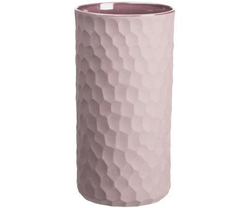 Vaso in terracotta Power, Terracotta, Rosa cipria, Ø 12 x Alt. 24 cm