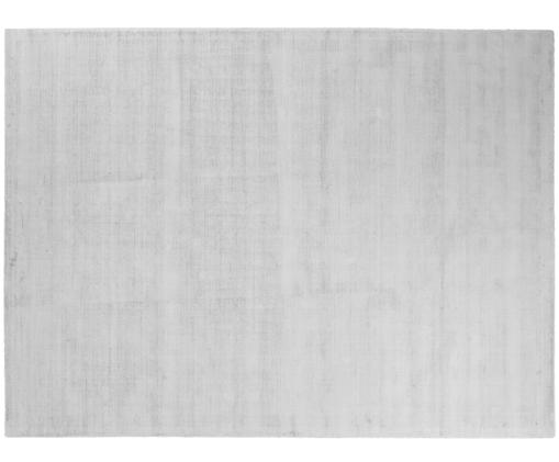 Handgewebter Viskoseteppich Jane, Flor: 100% Viskose, Silbergrau, B 300 x L 400 cm (Größe XL)