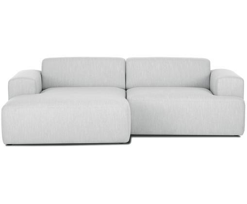 Hoekbank Marshmallow (3-zits), Bekleding: polyester, Frame: massief grenenhout, spaan, Poten: grenenhout Het FSC-gecert, Lichtgrijs, B 240 x D 144 cm