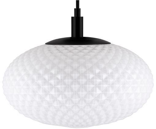 Pendelleuchte Jackson, Lampenschirm: Glas, Weiß, Schwarz, Ø 28 x H 22 cm