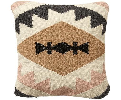Federa arredo  reversibile Gayle, Cotone, Beige, nero, crema, rosa, Larg. 45 x Lung. 45 cm