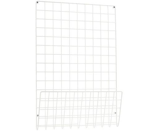 Pin board a griglia Mesh, Acciaio verniciato, Bianco, L 51 x A 72 cm