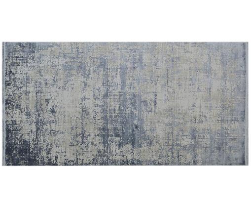Dywan z frędzlami Cordoba, Niebieski, szary, S 80 x D 150 cm (Rozmiar XS)