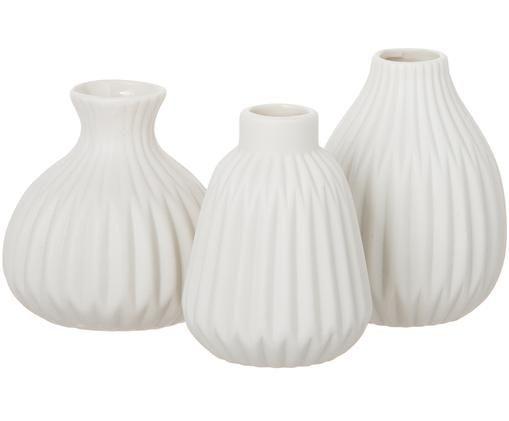 Vasen-Set Esko, 3-tlg., Porzellan, Weiß, Sondergrößen