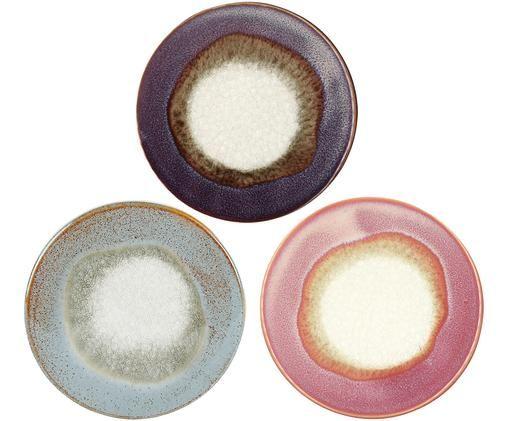 Komplet podstawek Stone, 3elem., Odcienie purpurowego, odcienie bladego różowego, odcienie niebieskiego, odcienie