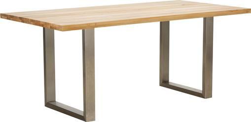 Esstisch Oliver mit Massivholzplatte