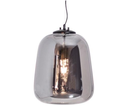 Lampa wisząca Leola, Odcienie chromu, czarny, Ø 33 x W 40 cm