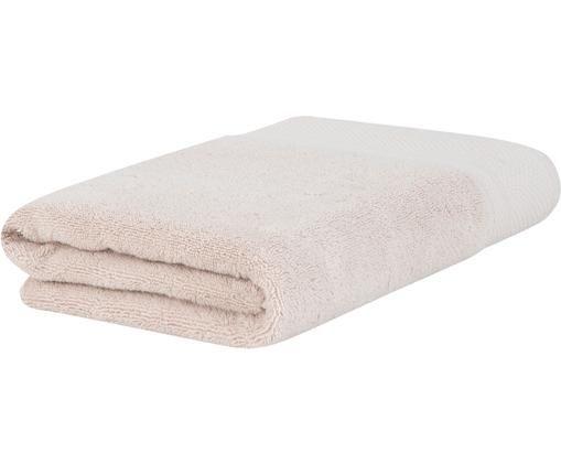 Handtuch Premium mit klassischer Zierbordüre, Beige, Badetuch
