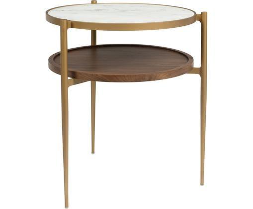 Table d'appoint ronde aspect marbre,Bella