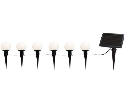 Guirnalda solar de luces Globus, Cable: plástico (PVC), Negro, transparente, L 500 cm