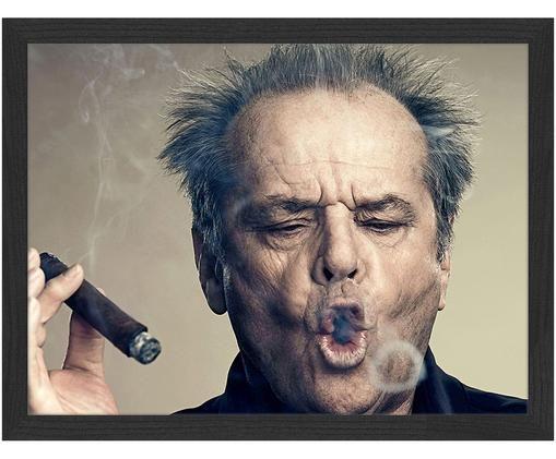 Gerahmter Digitaldruck Jack Nicholson, Rahmen: Schwarz Bild: Mehrfarbig