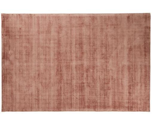 Tappeto in viscosa tessuto a mano Jane, Vello: 100% viscosa, Retro: 100% cotone, Terracotta, Larg. 200 x Lung. 300 cm