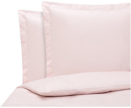 Pościel z satyny bawełnianej Premium, Blady różowy, 200 x 200 cm
