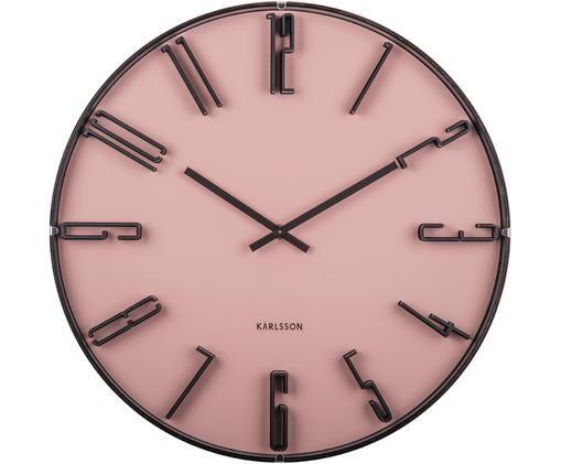 Orologio da parete Sentient, Materiale sintetico, Rosa, nero, Ø 40 cm
