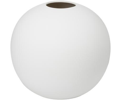 Handgemaakte vaas Ball, Keramiek, Wit, Ø 20 x H 20 cm