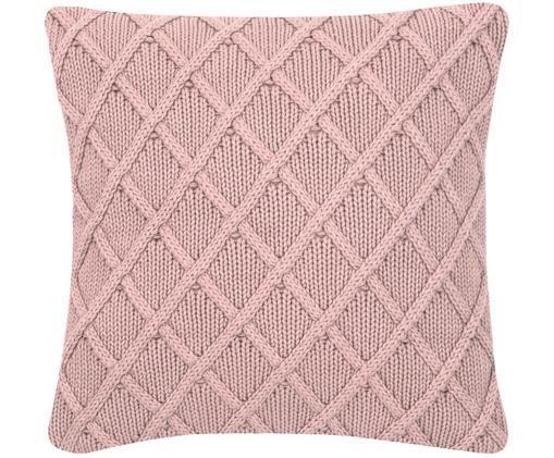 Housse de coussin tricotée Elly, Vieux rose
