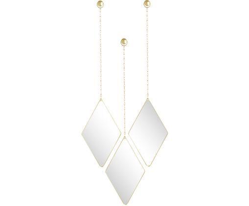 Komplet luster ściennych Dima, 3 elem., Odcienie złotego, S 18 x W 29 cm