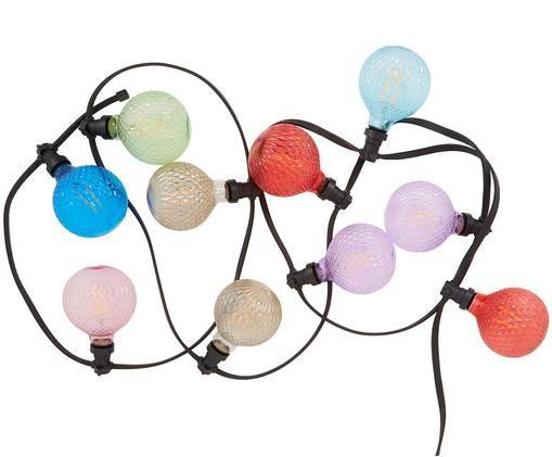 Girlanda świetlna LED Elegance, Czarny, wielobarwny, D 720 x W 18 cm