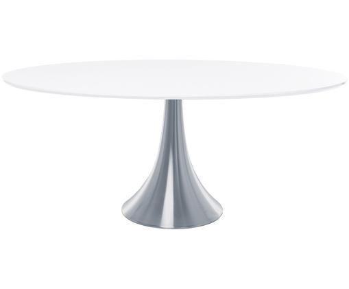 Tavolo da pranzo Grande Possibilita, Piano d'appoggio: bianco Gamba: alluminio