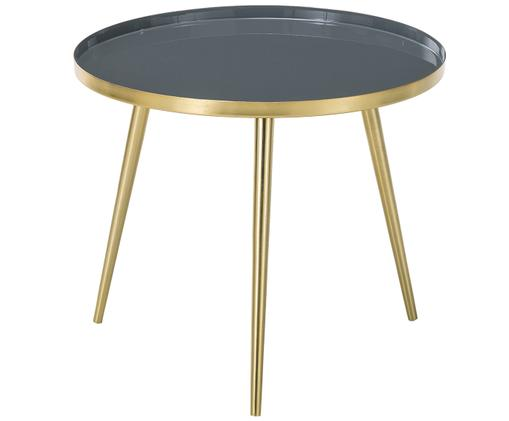 Table basse Amalia, Plateau: gris Pieds de table: couleur dorée