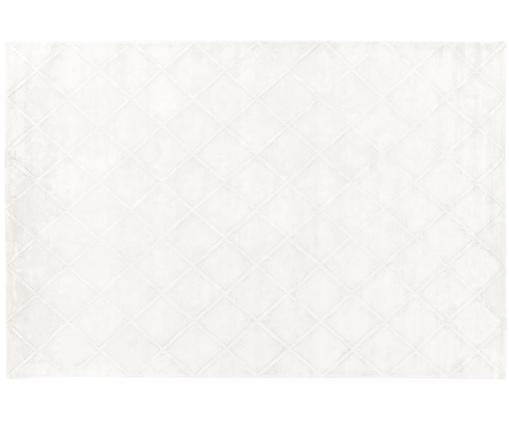 Alfombra artesanal de viscosa Madeleine, Parte superior: 100%viscosa, Reverso: 100%algodón, Crema, An 200 x L 300 cm (Tamaño L)