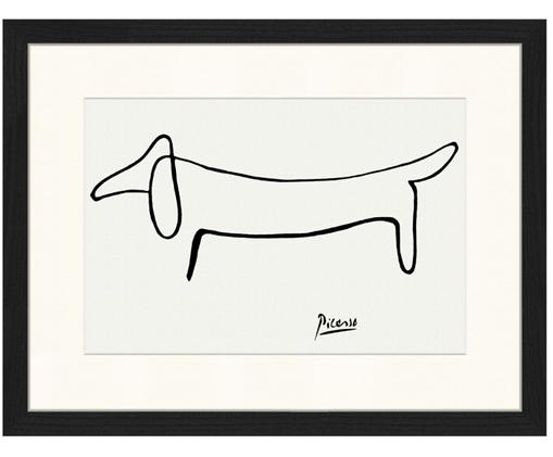 Stampa digitale incorniciata Dog From Pablo Picasso, Bianco, nero