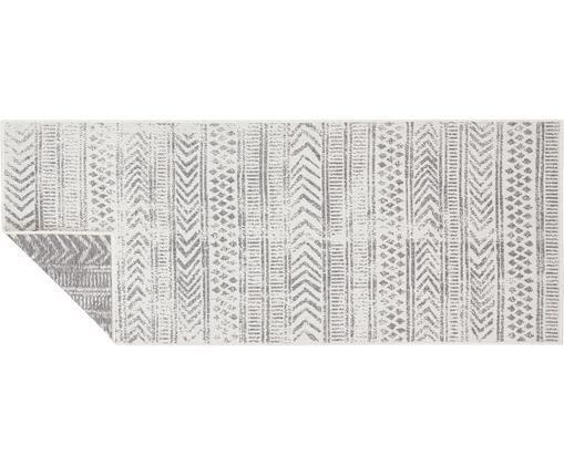 Gemusterter In- & Outdoor-Wendeläufer Biri in Grau/Creme, Polypropylen, Grau, Creme, 80 x 250 cm