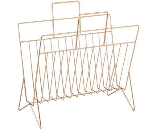 Portariviste Zinnober, Metallo verniciato, Dorato, L 40 x A 40 cm