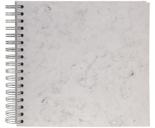 Fotoalbum Picture, Weiß, marmoriert