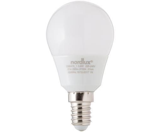 LED Leuchtmittel Azer (E14 / 4Watt), Leuchtmittelschirm: Opalglas, Leuchtmittelfassung: Aluminium, Weiß, Ø 5 x H 9 cm
