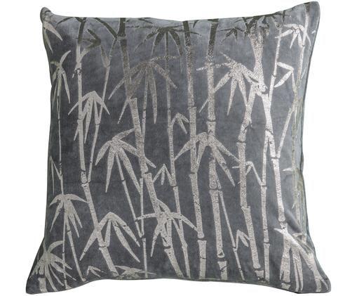 Poduszka z wypełnieniem Bamboo, Bawełna, Szary, S 45 x D 45 cm