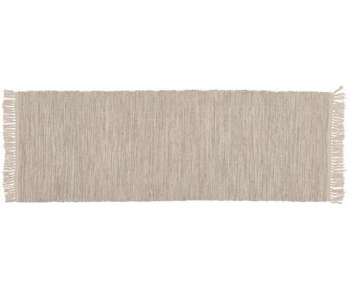 Passatoia Dag, Cotone, Beige chiaro, Larg. 70 x Lung. 200 cm