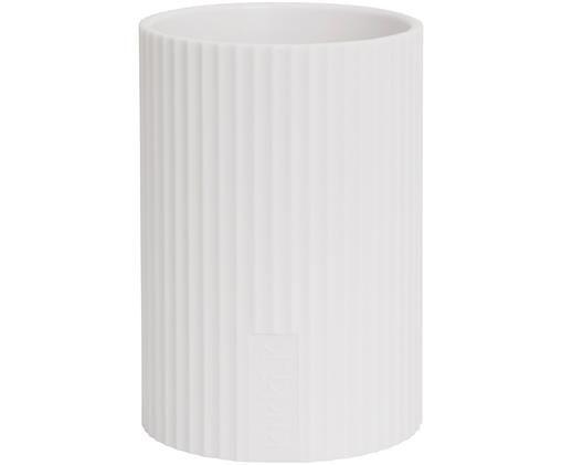 Pennenhouder Essentials, Kunststof, Wit, Ø 8 x H 11 cm